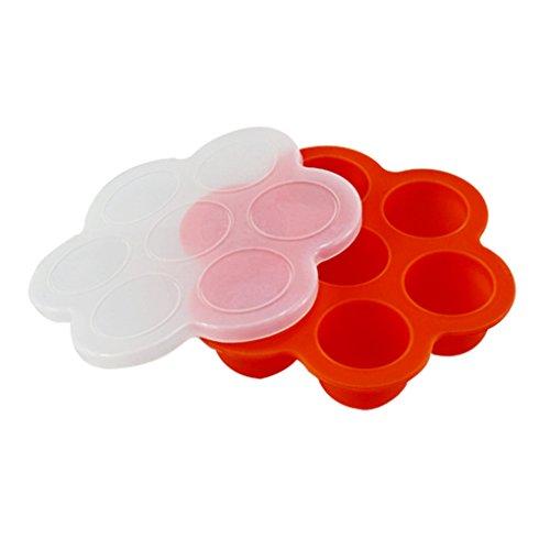 good01Silikon entwöhnen Babynahrung Silikon Gefrierschrank Tablett Container Einheitsgröße rot