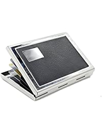 Toywale RFID Secure Stainless Steel Card Holder Wallet - Silver Black Card Holder For Man And Women