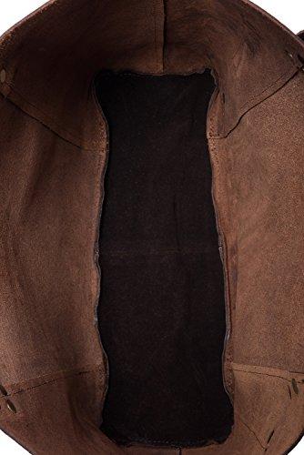 LEABAGS Odessa borsa da donna vintage in vera pelle di bufalo - Noce moscata Noce moscata