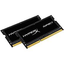 HyperX Impact HX316LS9IBK2/16 memoria 16GB 1600MHz DDR3L CL9 SODIMM (Kit di 2) 1.35V - 16 Kit