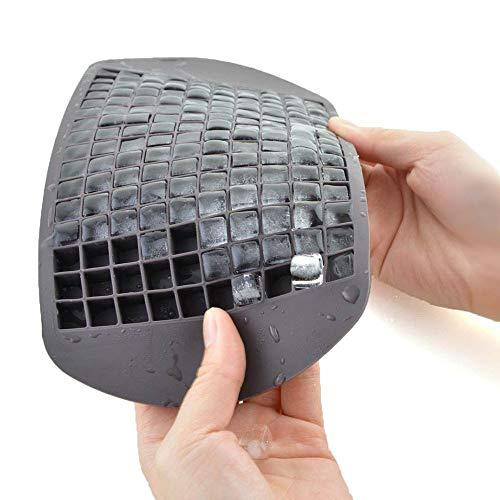 JLCP Ice Cube Schimmel 160 Gitter Silica Gel Ice Tablett 1Cm Kleine Quadratische EIS-Gitter-Bar Familie Schnelle Eisherstellung Gerät Eiscreme-Form (EIN Päckchen Von 2),Black (Ice Maker Schimmel)
