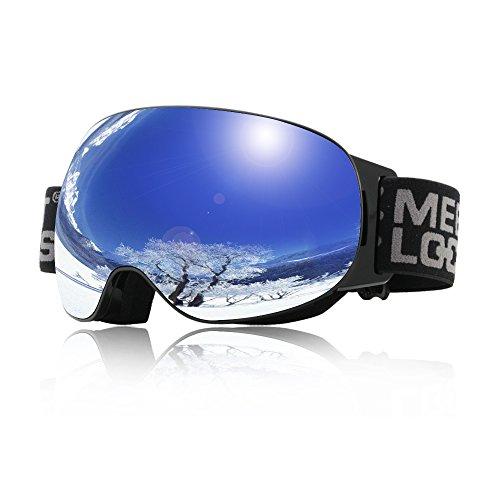 OTG Goggles Maschera da Sci, Occhiali da Sci Ski Goggle con doppia lente antinebbia protezione