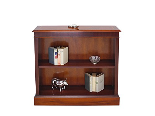 Regal Bücherregal Büro Wandregal englischer Stil in Mahagoni 90x100x30 cm (6083)