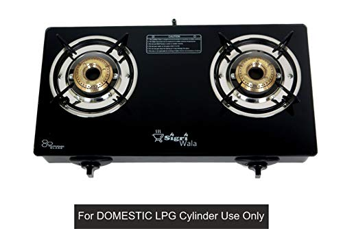 SIGRI-WALA AUTO Ignition 2 Burner Gas Stove (Auto Ignition 2 Burner) for Domestic LPG Only