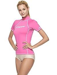 Cressi Damen Rash Guard Kurzarmtrikot aus elastischem Gewebe mit UV-Sonnenschutz (UPF) 50+