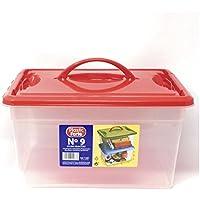 Plastic Forte - Caja de ordenación 12 litros con Tapa roja