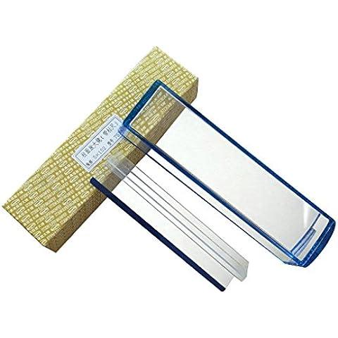 6 pulgadas 5X azul Raised Cúpulas Bar Lupa con la herramienta de lectura óptica de la línea de rastreo Bar