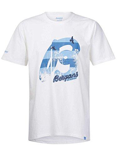 Bergans Herren Printshirt white/summerblue/navy