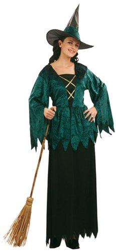 Damen-Kostüm Green Witch, Einheitsgröße -Hexe-Hexen-Kleid-Halloween- Hexenkostüm Artnr. 87206