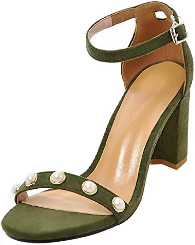 COOLCEPT Damen Mode Knochelriemchen Sandalen Blockabsatz Open Toe Schuhe Gr
