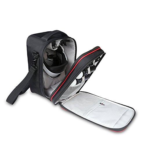 VR Tragetasche für PlayStation VR - 3D VR-Brille und PS VR-Launch-Bundle, VR-Headset, Bewegungssteuerung, verstellbarer Tragegurt, Spieltaschen und Zubehörtaschen, Schwarz