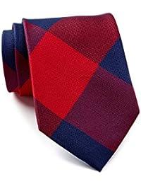 Tommy Hilfiger Men's Buffalo Plaid Silk Tie, OS (Red)