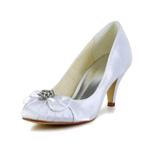 Jia Jia Wedding 594942 chaussures de mariée mariage Escarpins pour femme Blanc