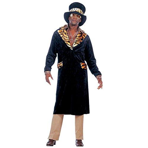 m Zuhälter Herrenkostüm L (52) 70er Jahre Gangster Faschingskostüm Prolet Karnevalskostüm Proll Rapper Anzug Hip Hop Playboy Mottoparty Verkleidung Karneval Kostüme Herren ()