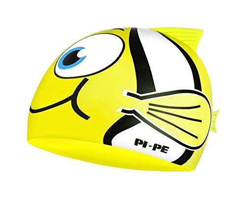 Pi-pe fishy - cuffia da piscina da bambino, motivo pesce, giallo (giallo), taglia unica