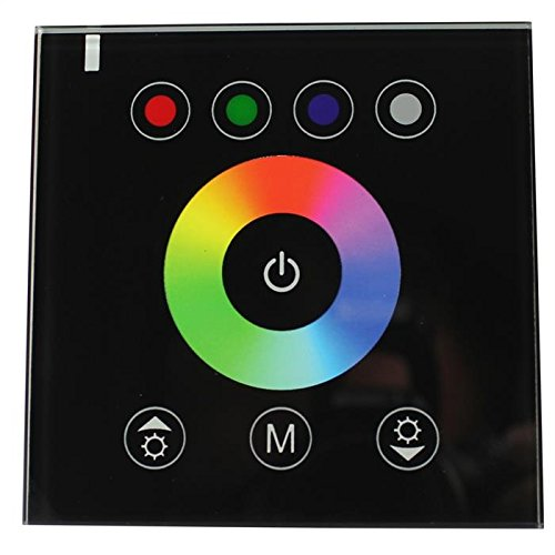 RGBW RGB+W Touch Panel Controller 192W 12V / 384W 24V - 16A - Glas Design Optik