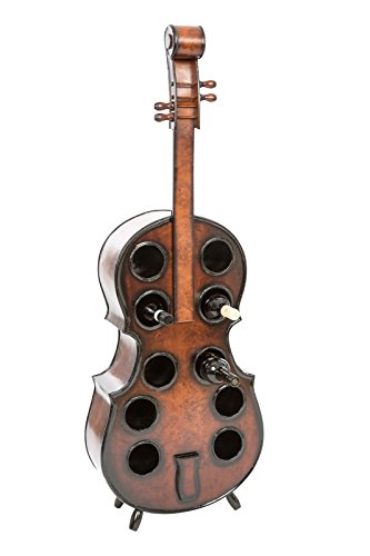 aubaho Flaschenregal Cello 135cm Holz Weinregal Kontrabass Weinständer Regal Flasche