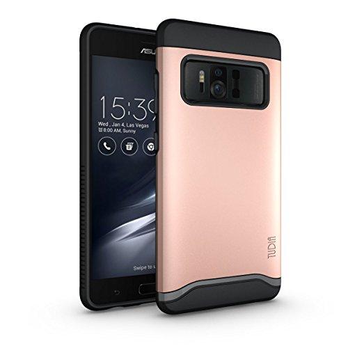 Asus ZenFone AR Hülle, TUDIA Slim-Fit Merge Dual Layer Schutzhülle für Asus ZenFone AR (ZS571KL) (Rose Gold)