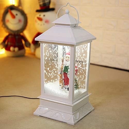 Mgzdh lanterna di natale natale neve suono lampada scena finestra decorazione pendente 18 * 18 * 41 cm opzionale
