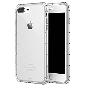 Gripp Shield Case For Apple iPhone 7 Plus (Compatible With Apple iPhone 6/6s Plus) Anti-Shock TPU & Shock Absorption - Clear