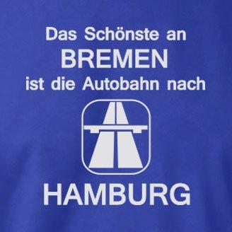 TEXLAB - Das Schönste an Bremen - Langarm T-Shirt Dunkelblau