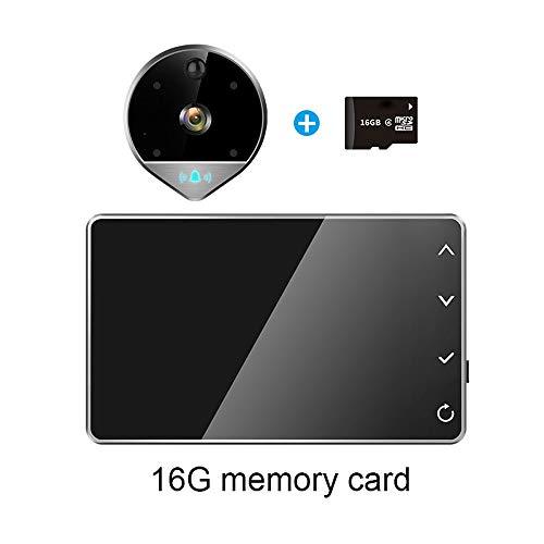 Preisvergleich Produktbild Türklingel Intelligente Video elektronische Cat Eye Kamera Home Security HD Überwachung WiFi Handy Fernüberwachung (größe : 16G)