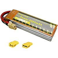 Youme 5000mAh 11.1V 3S Lipo Battery Pack 50C Max 100C with XT60/TRX/Deans T Plug for RC Helicopter,RC Car,RC Multirotor, RC Drone,RC Boat,RC Truck( 6.02x 1.89 x 1.02 in 13.26oz) - Compare prices on radiocontrollers.eu