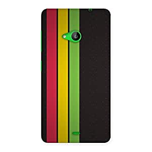 Neo World Red Yellow Green Back Case Cover for Lumia 535
