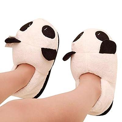 Voberry Women's Panda Winter Warm Plush Antiskid Indoor Home Slippers 24.5 cm