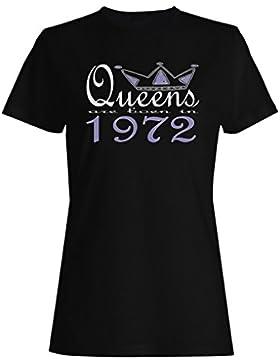 Nuevas reinas de diseño artístico nacen en 1972 camiseta de las mujeres b608f