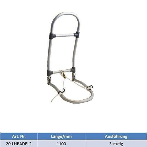 MARETeam® Schlauchbootleiter Badeleiter klappbar mit Leine 110 cm Lang