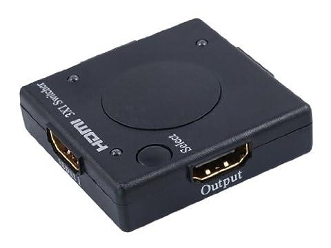 BIGtec 3fach 3 Port Video HDMI 1.3b Switch Umschalter 3 x in / 1 x out / intelligenter Switch , unterstützt automatische und manuelle Umschaltung nur 5 x 5 cm HUB (Video Umschalter)