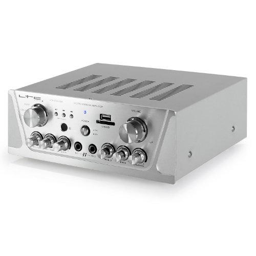 Imagen 5 de LTC Audio ATM 2000 USB - Amplificador stereo karaoke (USB, 2 x MIC, 3 x LINE, incluye mando a distancia), plateado