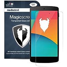"""Nexus 5 (2013) Protecteur d'Écran en Verre Trempé, MediaDevil Magicscreen : """"Clair"""" (Invisible) - (1-Paquet)"""
