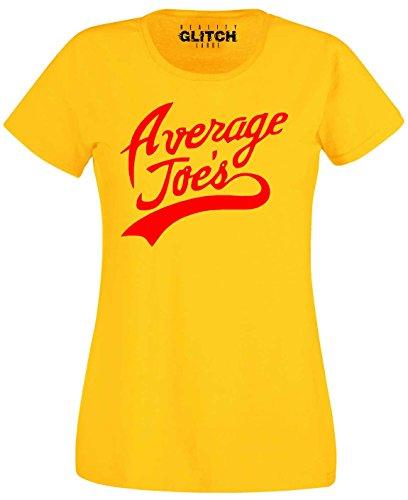 Reality Glitch Damen Average Joe's T-Shirt (Groß, Gelb) (Branchen Gelben T-shirt)