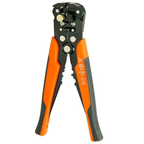 ECD Germany Schneid- und Abisolierzange - Automatisch - 3-in-1 - Profi - Quetschzange - Schneider - Crimpzange - Kabelschuhe - Kabelschuhzange - Presszange - Absetzzange - Zange - Wire - Stripping - Tool