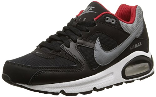 Nike Air Max Command (Gs), Derby homme multicolore (Black/Cool Grey-Gym Red-White)