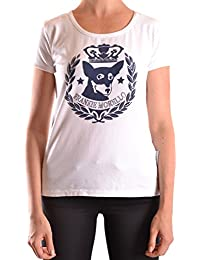 Frankie Morello Mujer MCBI125073O Blanco Algodon T-Shirt