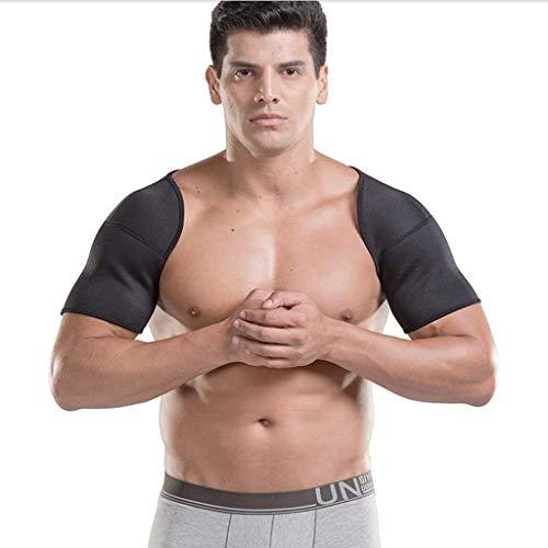 Bestting Doppelte Schulterstütze, Schulter Pflege-Gesundheit Atmungsaktiv, Sport-Schulter Schutz Brace-Gurt Doppel Schulter Klammer Unterstützung,S -