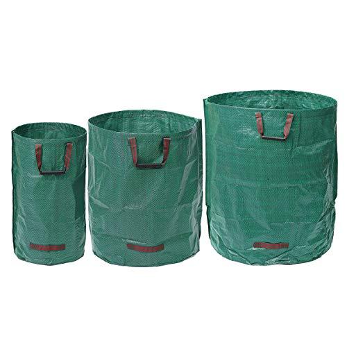TuToy Starke Gartenbeutel Abfall-Wiederherber Müll Rasen-Sack Wiederverwendbar Heavy Duty Large Trash Tasche - #2 (Wiederverwendbare Rasen-taschen)