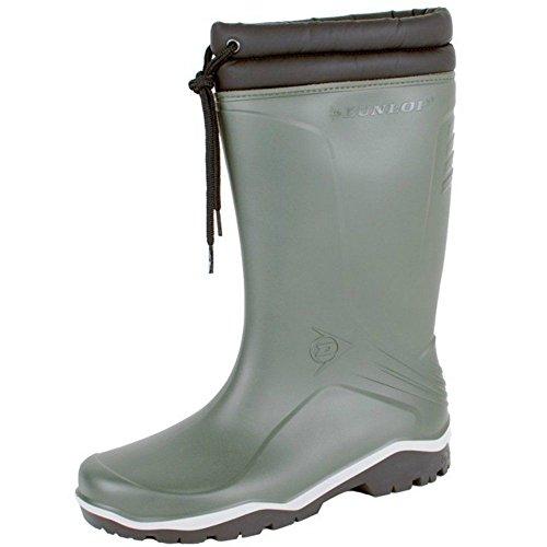 Dunlop Unisex Fleece-Futter isoliert bis -15c Größe: 3-13 Gummistiefel Winter grün - grün