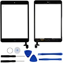Digitalizador Pantalla Táctil Panel completo para iPad Mini 12Kit de repuesto con botón Home Chip IC Cable flexible adhesiva outils-dazone ® negro negro