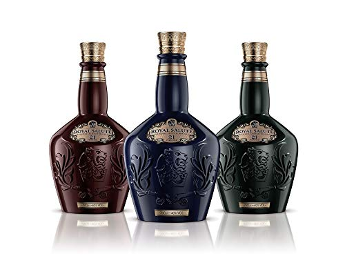 Chivas Royal Salute Blended Scotch Whisky 21 Year Old mit Geschenkverpackung – 21 Jahre gereifte Premium-Whisky Komposition aus Malt & Grain Whiskys – 1 x 0,7 L