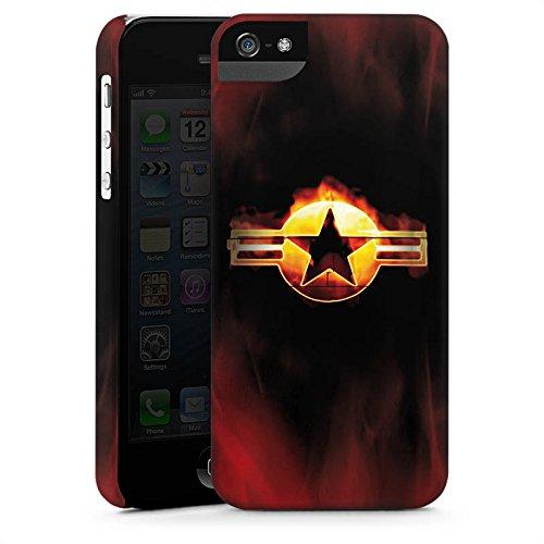 Apple iPhone X Silikon Hülle Case Schutzhülle Stern Emblem Flammen Premium Case StandUp