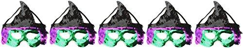 exe Masken Halloween Party Schwarz Grün & Violett ()