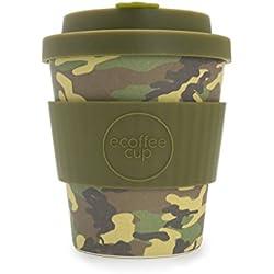 Ecoffee Cup Taza de café con diseño de camuflaje Mike and Eric 250 ml. Taza de café de bambú reutilizable