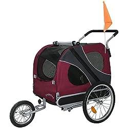 DOGGYHUT Remorque pour chien extra-grande avec kit de joggeur ROUGE 70302-01