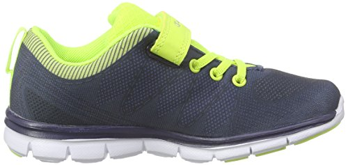 Champion Low Cut Shoe Pax Jr. B Ps, Chaussures de course garçon Bleu - Blau (New Navy/Lime 2257)