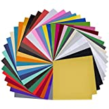 Paper Plane Design 12 inch x 12 inch Self Adhesive Art and Craft Vinyl Sheets | 20 Assorted Vinyl Pack for Cricut, Silhouette Cameo, Craft Cutters, Printers, Letters, Decals (40)