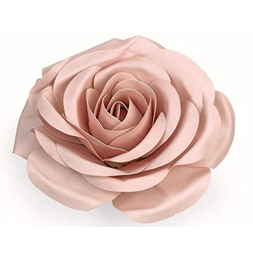 Rose de 50 cm de couleur rose en polyéthylène équipement romantique
